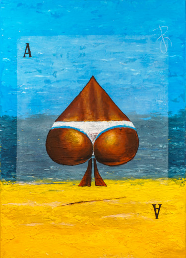 "Semi-Surrealistic painting ""Ass of Spades"""