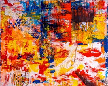 - Stretched in time - BOLD COLOR ABSTRACT Painting