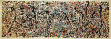 Abstract expressionism JACKSON POLLOCK style.