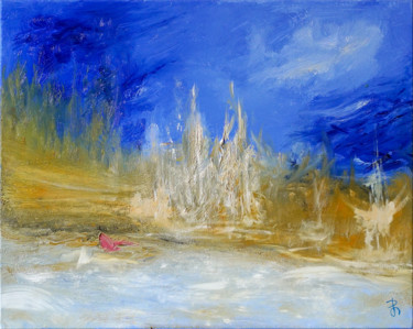 Semi Abstract Landscape Oil Painting