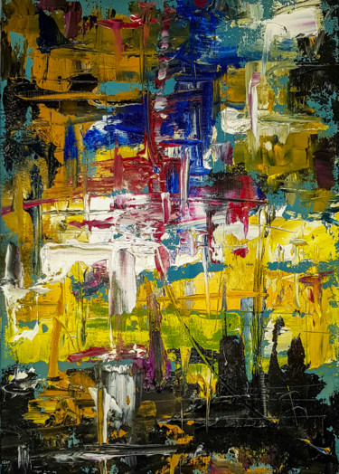 Abstract Expressive Modern Textured Oil Painting