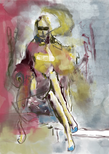 Abstract - Sitting Woman - Limited Edition Prints