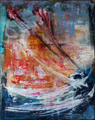 Modern Abstract Artwork. Acrylic & Oil on Canvas.