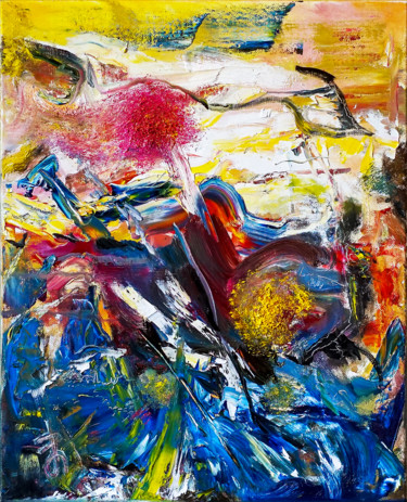Colorful Abstract Expressive Oil Painting by Retne