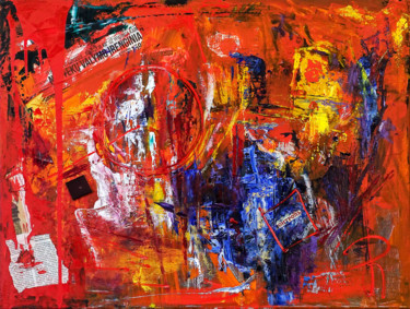 Abstract Expressionism Style Painting.