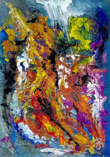 Abstract Oil Painting. Untitled Abstraction.