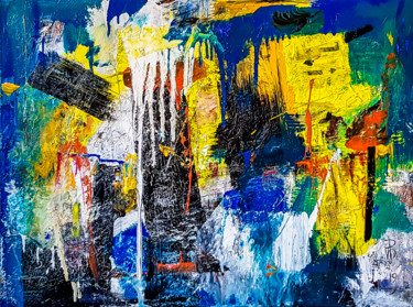 """""""Faith and Trust"""". Rich textured abstract painting."""