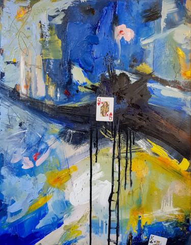 Blue Orange-Scene-1-KING/QUEEN. Abstract Expressionism.