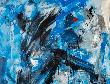 -FAST- Abstract Original Painting on Unstretched Canvas.