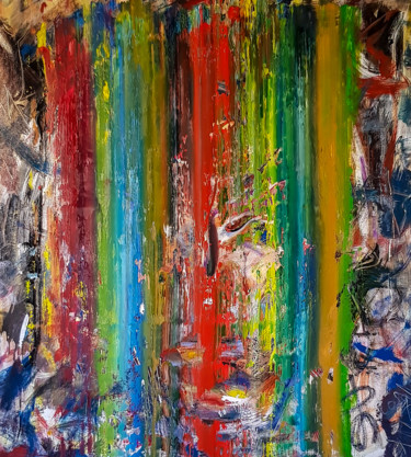 -Surge- Abstract Original Painting on Unstretched Canvas.