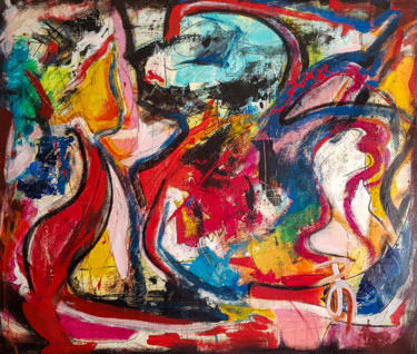 -Authority- Abstract Original Painting on Unstretched Canvas