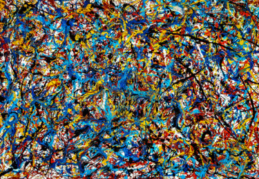 """Ownership"" Style of JACKSON POLLOCK. Abstract Expressionism"